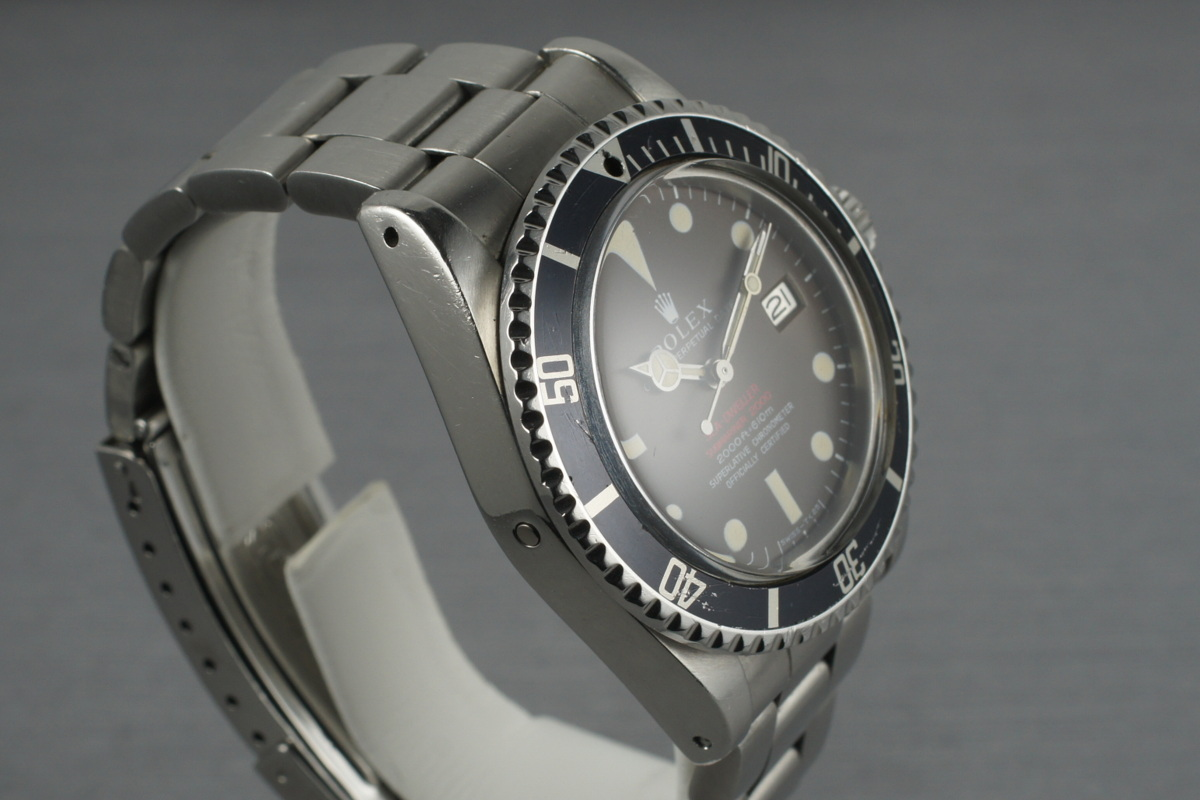 Rolex double red sea dweller its rare and notable thanks to the offset sea dweller and submariner text and biocorpaavc Choice Image