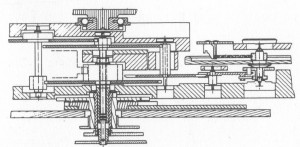 """Calibre 82"" cutting through the gear train"