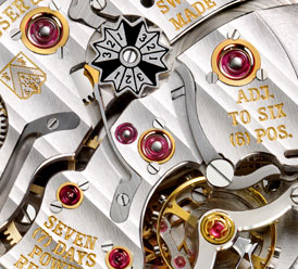 The movement is lovely and this Maltese Cross indicates the leap year status. Image via H. Moser & Cie.