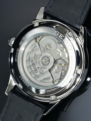 Although lightly decorated, the 6R15 is a decent modern automatic movement