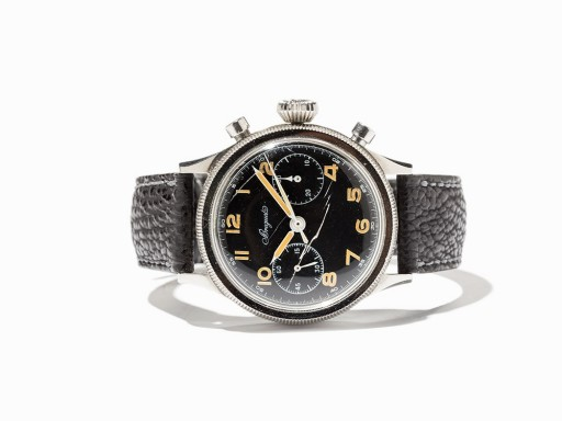 There's a huge amount of military cred in this 1954 Breguet Type 20 military aviator chronograph