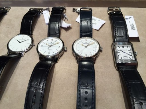 Platinum, steel, platinum, steel - that's the way of Jaeger-LeCoultre!