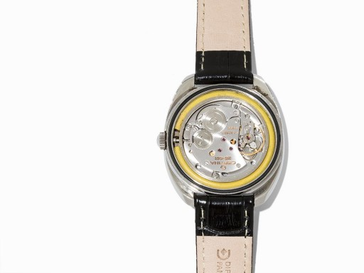 The Certina calibre 25-661 is shock-mounted inside, making it particularly durable